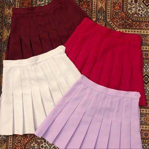 American Apparel Tennis skirts